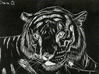 Scratch board art