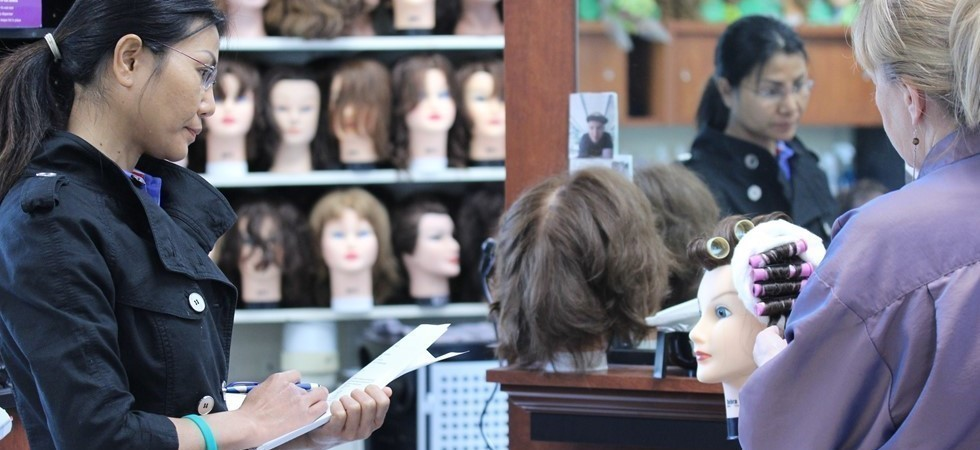 Cosmetology Student Observes Intructor, NCOC, Grand Gorge, NY