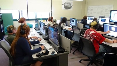 NCOC Visual Arts, Comm. & Tech. students learn Adobe graphic design software