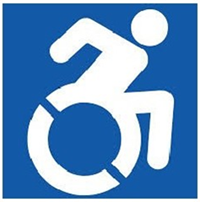 Icon of person in a wheelchair